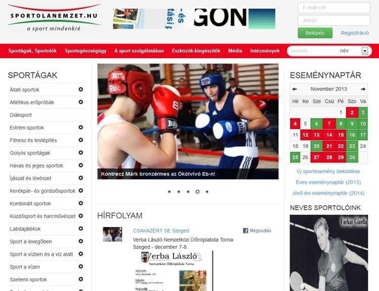 Magyar sportolókat összesítő közösségi portál olyan funkciókkal mint a