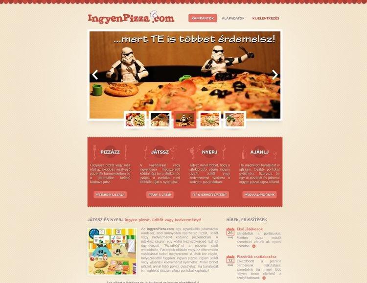 Egyedülálló hűségjutalmazó rendszer, amely kimondottan pizzériák számára készült, egy szegedi startup alapötleteként. Az egyedi, logózható Flash játékban a pizzériák vásárlói gyűjthettek pontokat, amikért kedvezményt, ingyen üdítőt vagy desszertet vagy akár ingyen pizzát is kaphattak.
