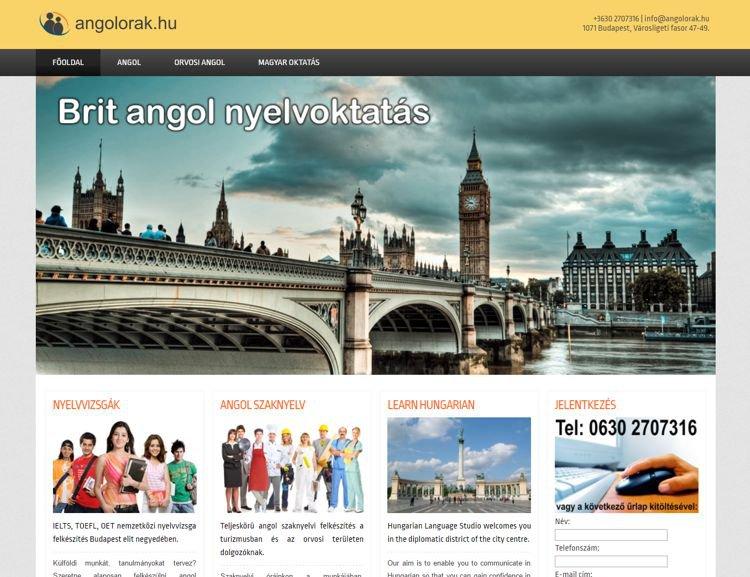 Egy budapesti angol nyelviskola saját weboldala. A portál teljesen személyre szabható, a tartalmát az iskola szolgáltatja. A keretrendszer elkészítése, az oldal kialakítása volt a mi feladatunk. Az oldalon külön árajánlatkérő modul és egy kapcsolat felvételi szekció is helyet kapott.