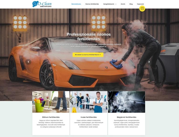 Professzionális ózonos fertőtlenítés Szegeden és környékén. Egy innovatív cég reszponzív, modern és letisztult céges weboldala; bemutatkozással, leírásokkal, árakkal, blog részleggel és online kapcsolatfelvételi űrlappal. A portálhoz egy saját admin felület is tartozik.