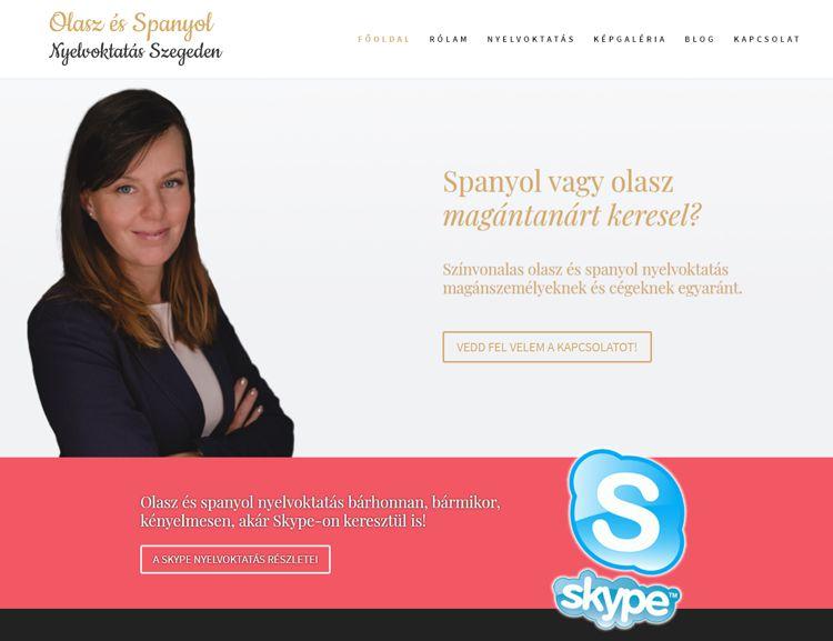 Minőségi olasz és spanyol nyelvoktatás Szegeden, magánszemélyeknek és cégeknek egyaránt. Nyelvtanulás éretteségire, nyelvvizsgára vagy külföldi munkavállaláshoz, több mint 20 éves nyelvtanári szakmai tapasztalattal, akár Skype-on is! Bemutatkozó weboldal képgalériával és blog részleggel.
